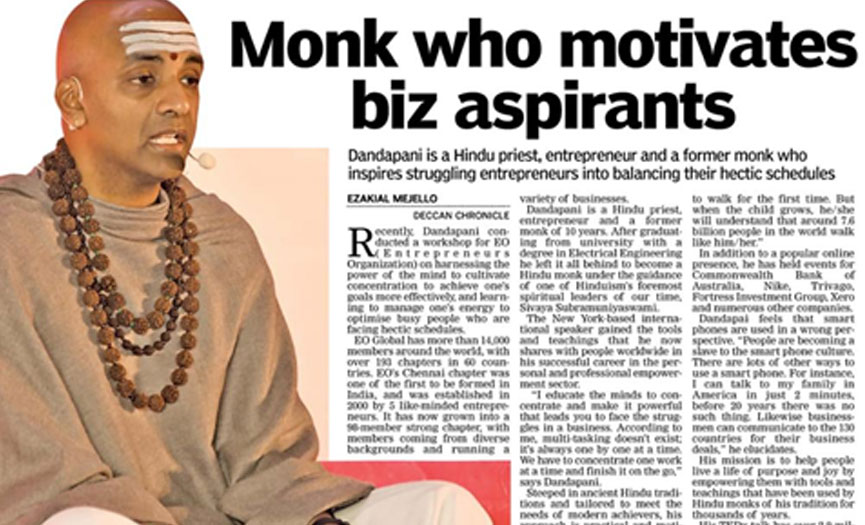 Success mantra: A young monk swears by the power of focus